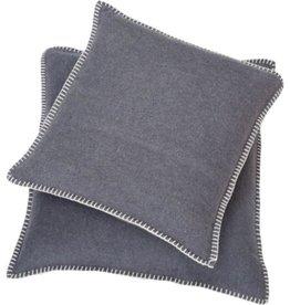 Blanket stitch cushion, grey
