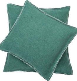 Blanket stitch cushion, dark green