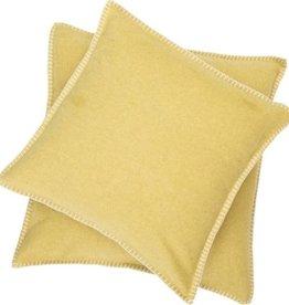 Blanket stitch cushion, yellow