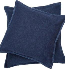 Blanket stitch cushion, navy