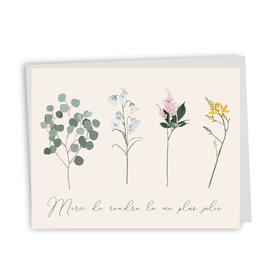 Paper E Clips-Merci Fleurs Card-CS109