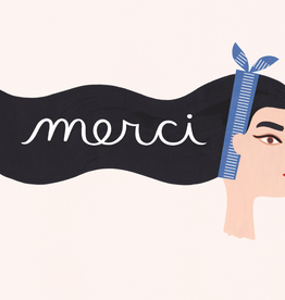 Paper E Clips-Merci Girl Card-19173