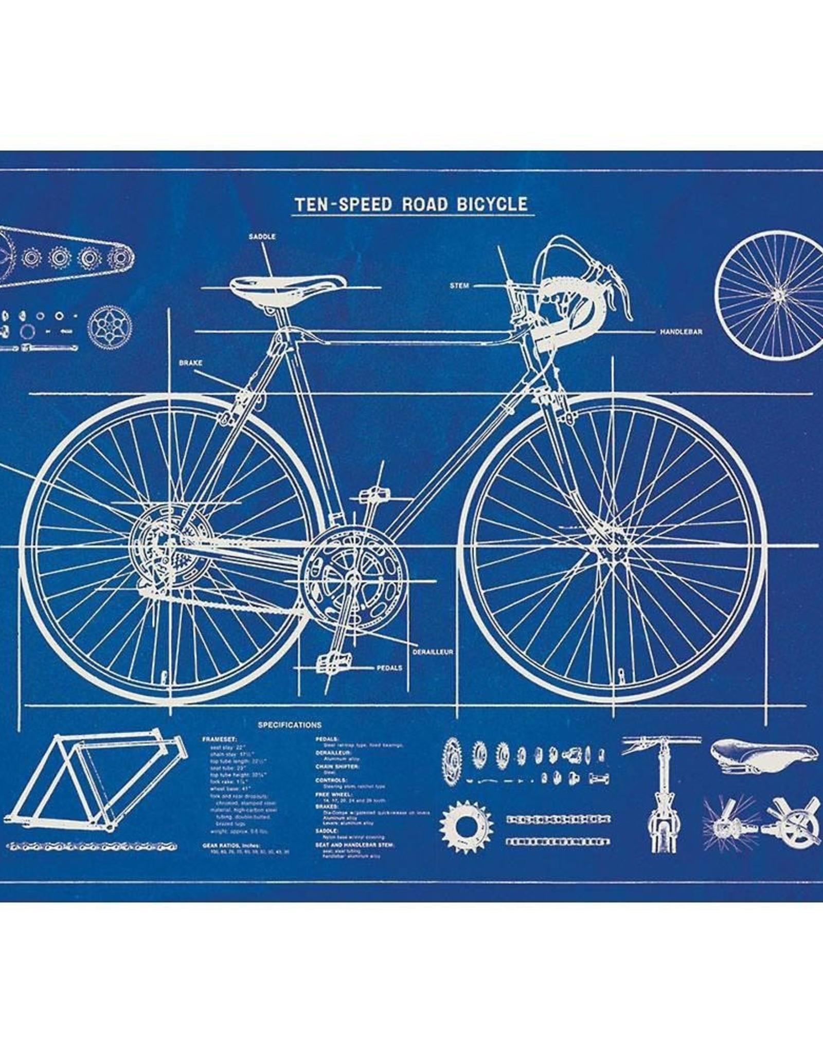 Poster Wrap Sheet - Bicycle Blueprint