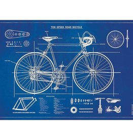 Poster Wrap Sheet - Bicycle Blueprint