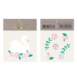 Floral Swan Tattoos