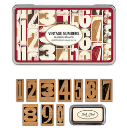 Vintage Numbers Stamp Set