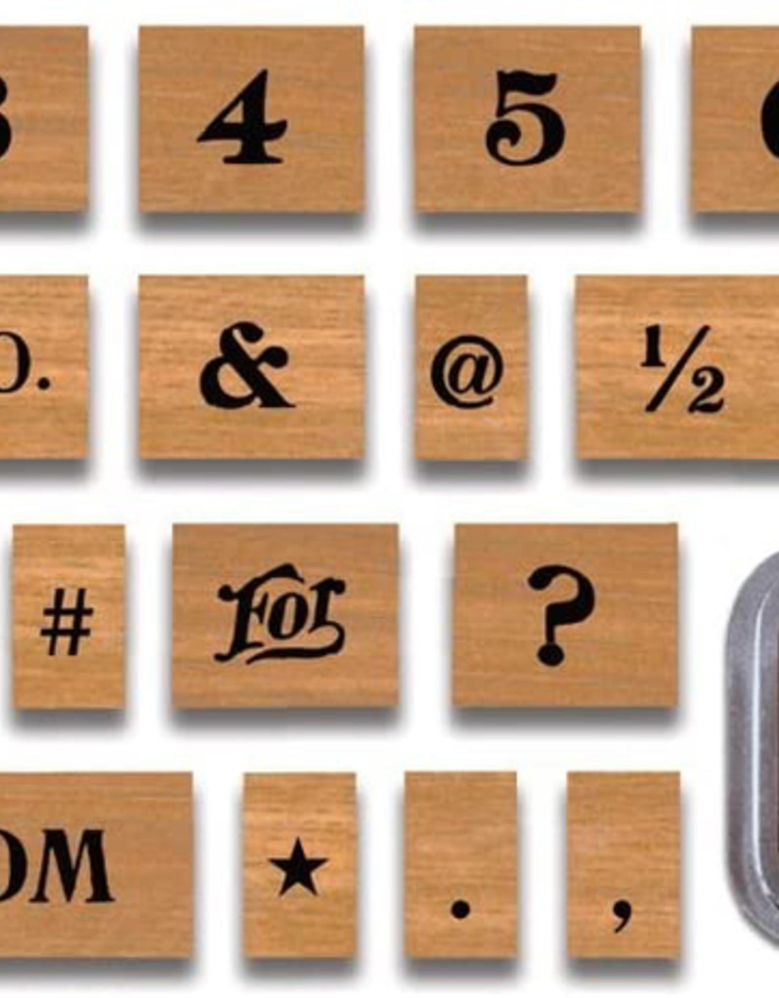 Numbers & Symbols Stamp Set