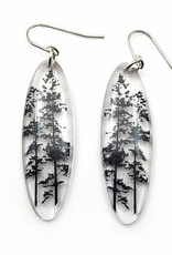 Tall Forest Earrings Oval