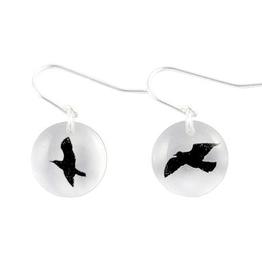 Bird Earrings Round