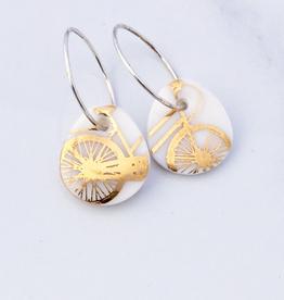 Bike Earrings Porcelain