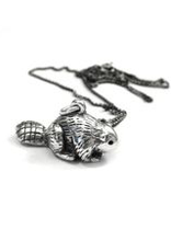 Elaine Ho Beaver Necklace Sterling Silver