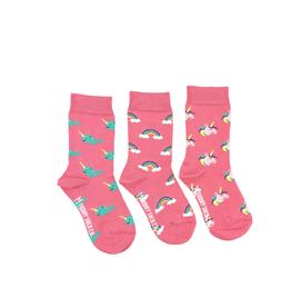 Kids Rainbow Unicorn Narwhal Socks Set 3