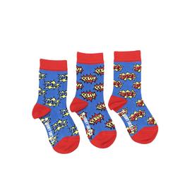 Zap Pow Bam Kids Socks-Age 2-4