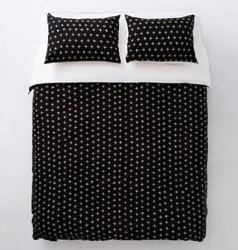 EQ3 Knox Duvet Set Black - Queen
