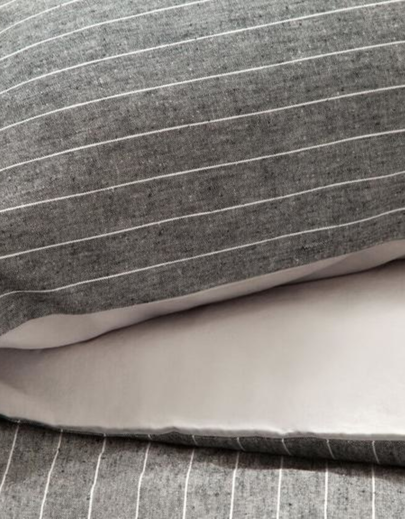 EQ3 Acadia Duvet Set Grey - Queen