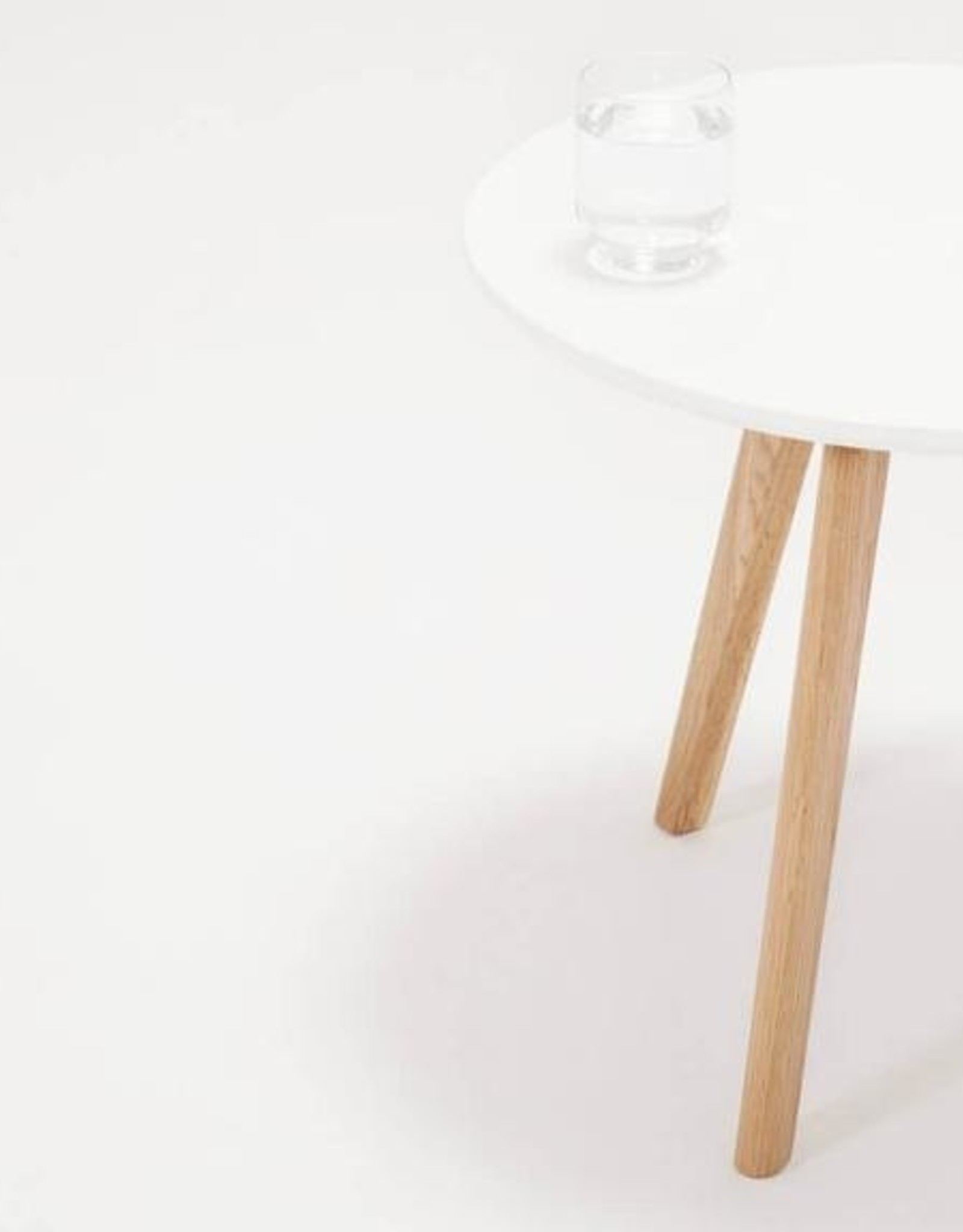 EQ3 Tate End Table White