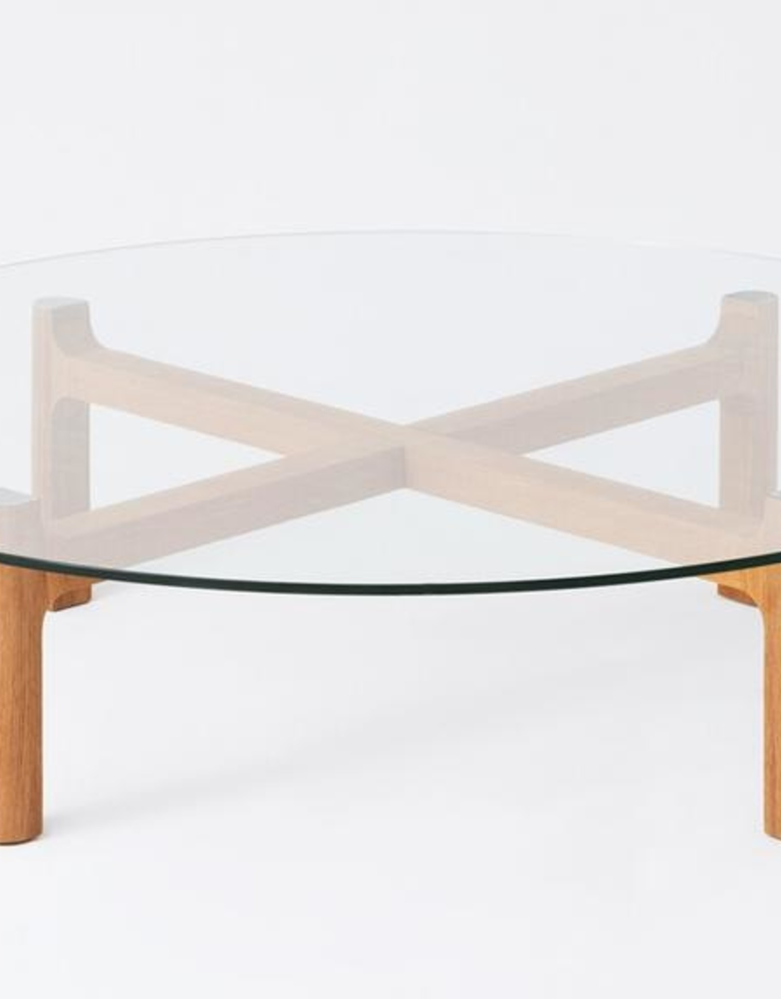EQ3 Place Round Coffee Table Oak