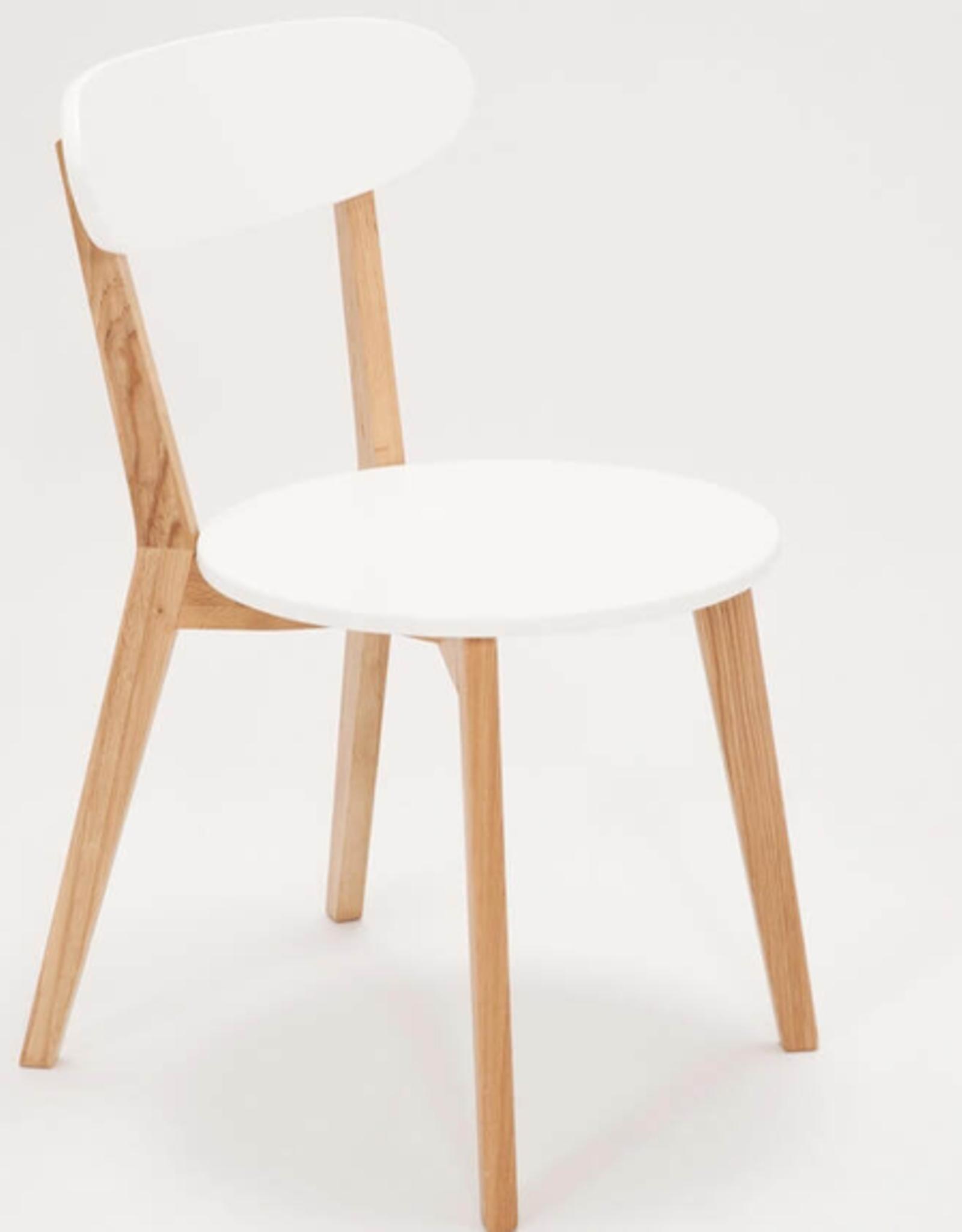 EQ3 Tate Dining Chair-White