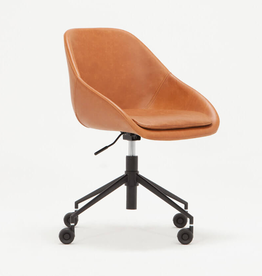 EQ3 Nixon Office Chair - Brown Leather