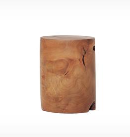 EQ3 Solid Wood Stool - Teak-Cylinder