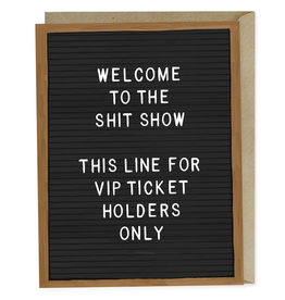 Paper E Clips-Shit Show VIP Card-MPEMGC358