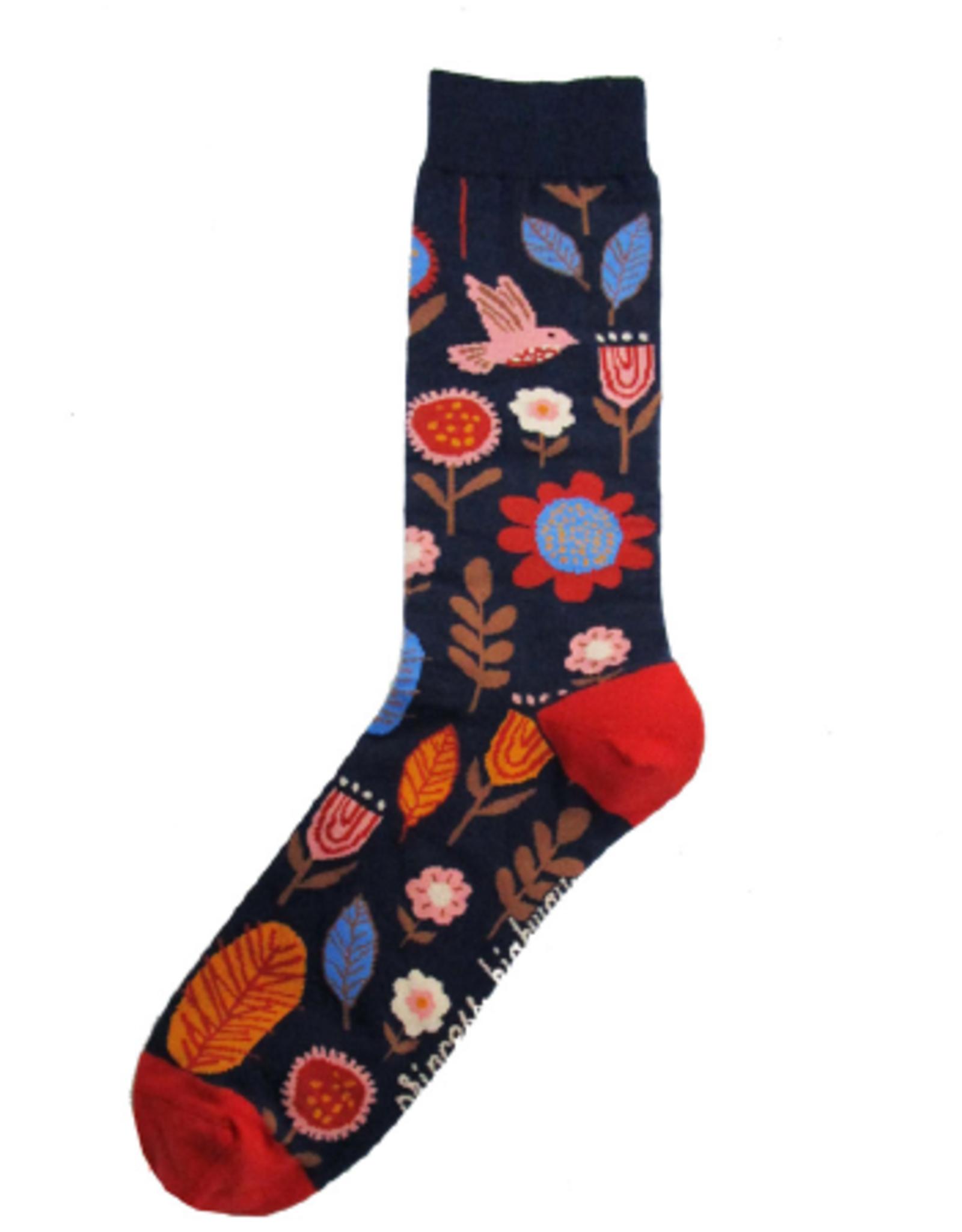 Geraldine Socks Navy