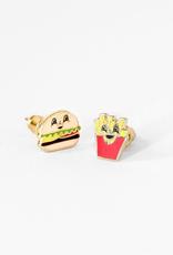 Enamel Earrings - Burger + Fries