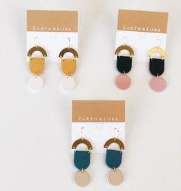 Half-Moon Dangle Earrings