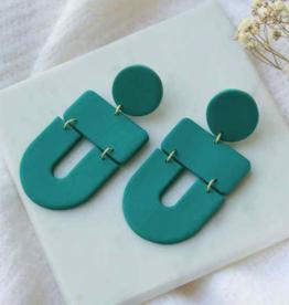 Erica Earrings Green