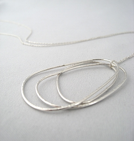 """Pebbles Necklace, 26"""" Sterling Silver"""