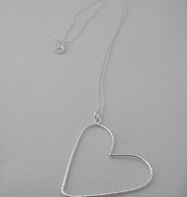 """Halo Necklace 26"""" Sterling Silver"""