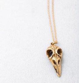 "Cobalt Necklace 26"" Bronze w. Gold Fill Chain"