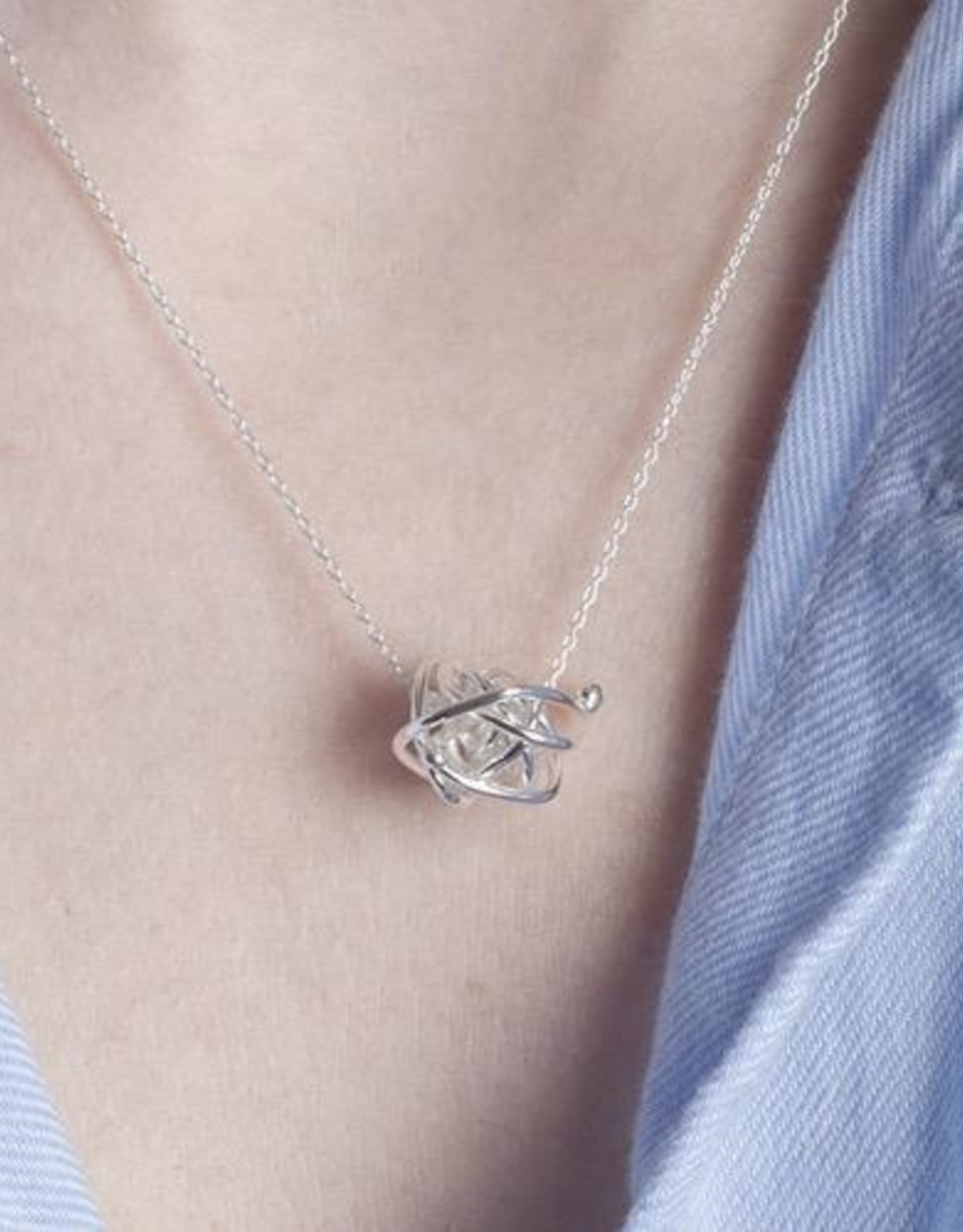 """Gypsy Necklace 18"""" Sterling Silver"""