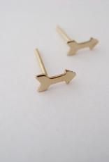 Arrow Earrings Gold Fill