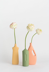 Porcelain Bottle Vase #7 Orange