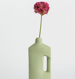 Porcelain Bottle Vase #3 Green