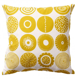 Graphic Candy Cushion Sweden - Yellow 18""