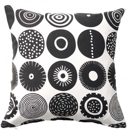 Graphic Candy Cushion Sweden - Black 18""