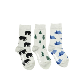 Bear And Tree Kids Socks-Age 5-7