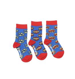 Zap Pow Bam Kids Socks-Age 5-7