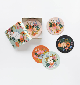Lively Floral Paper Coaster Set