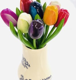Wooden Tulip, Large Assorted Colours