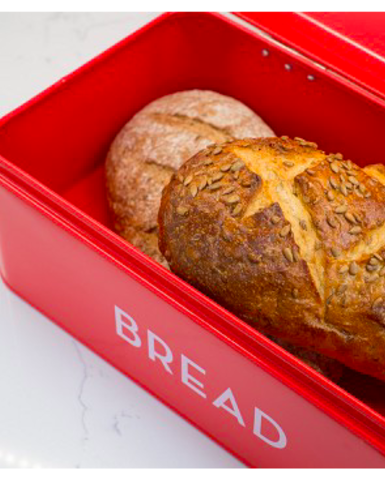 Bread Bin Red, Large