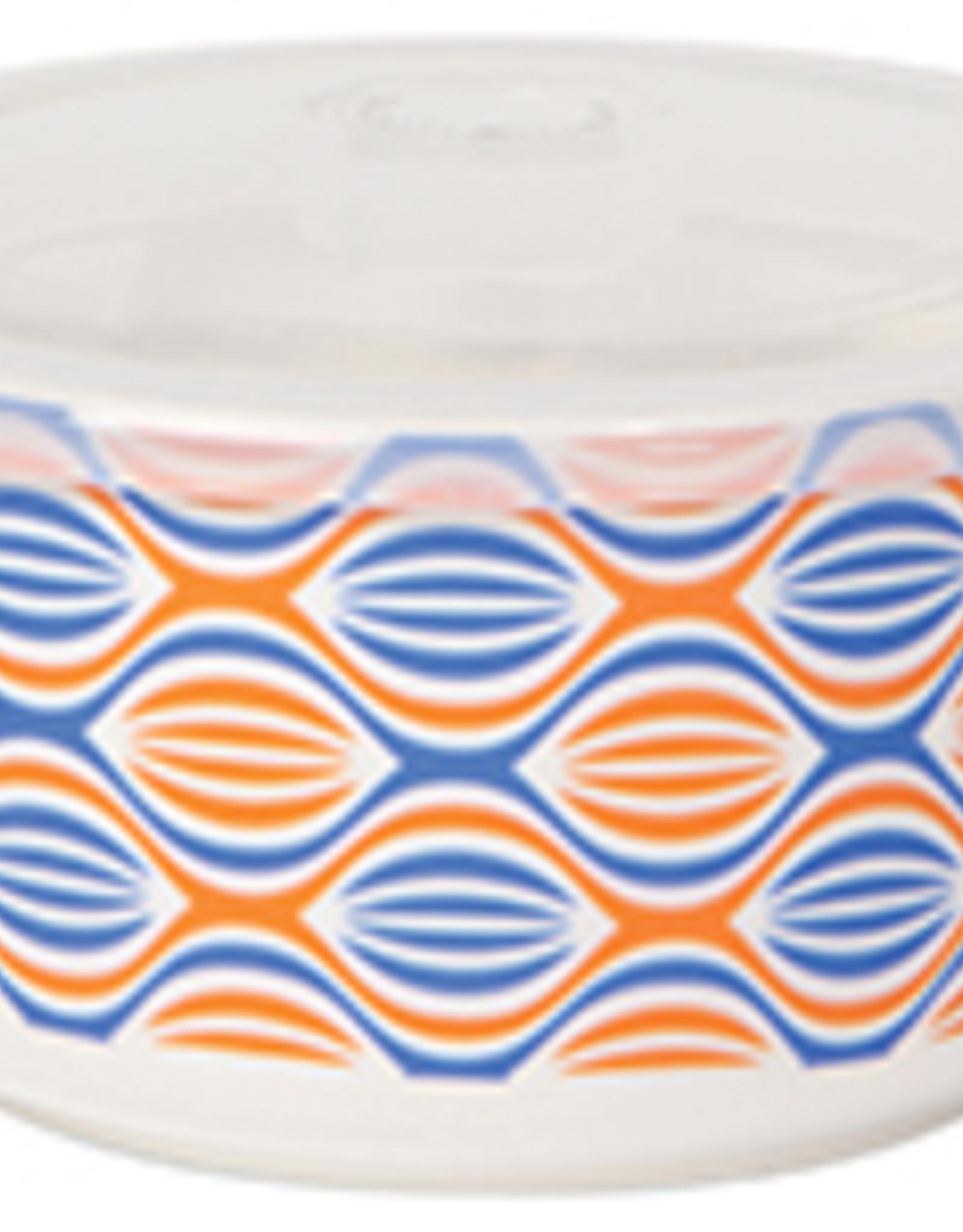 Snack Container Orange Wave Medium