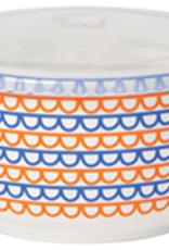 Snack Container Orange Scallop Large