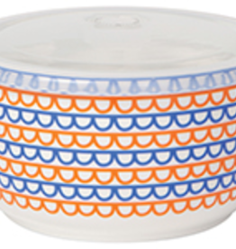 Snack Container Orange Scallop Large
