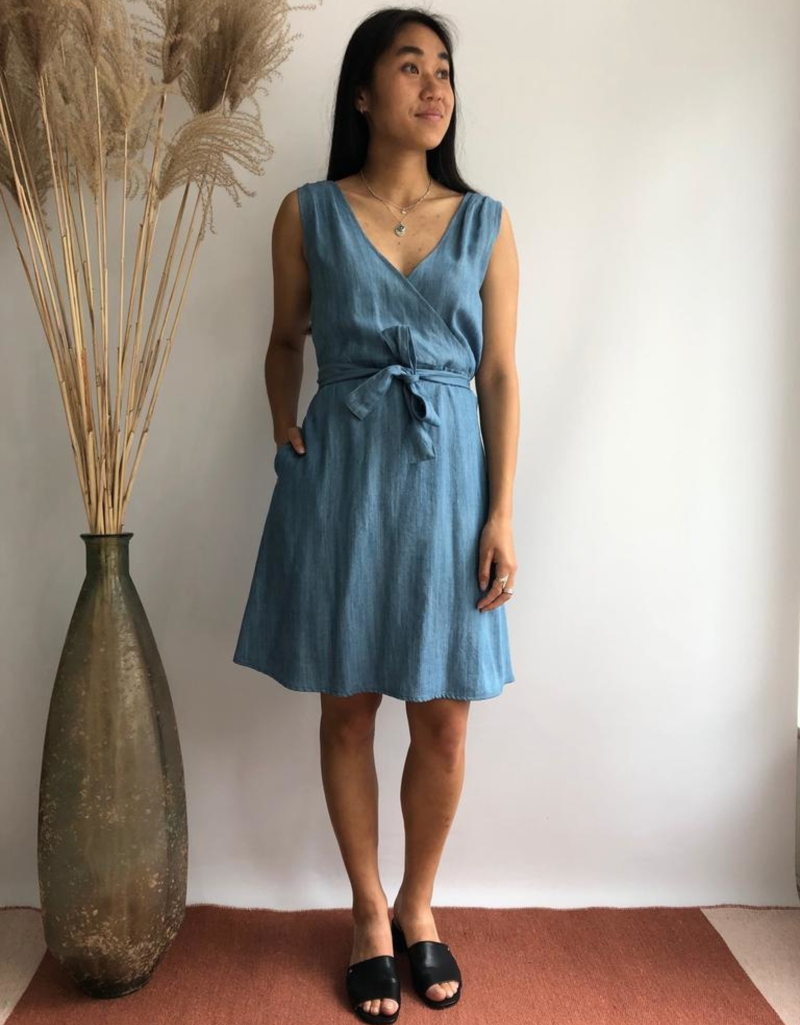 Chung Dress Blue Tencel