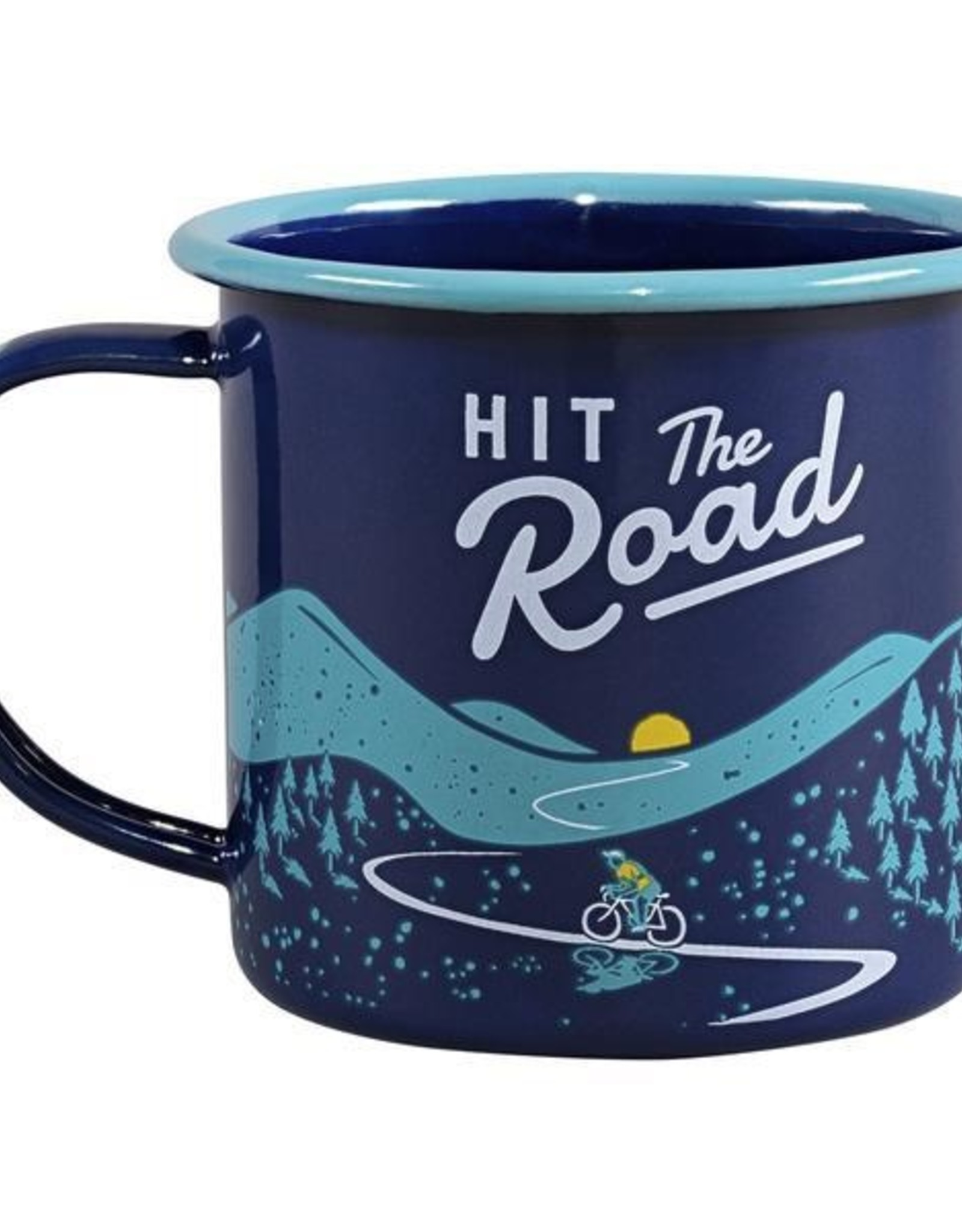 Hit The Road Enamel Mug