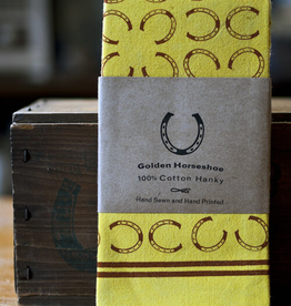 Golden Horseshoe Hankie Hand Printed