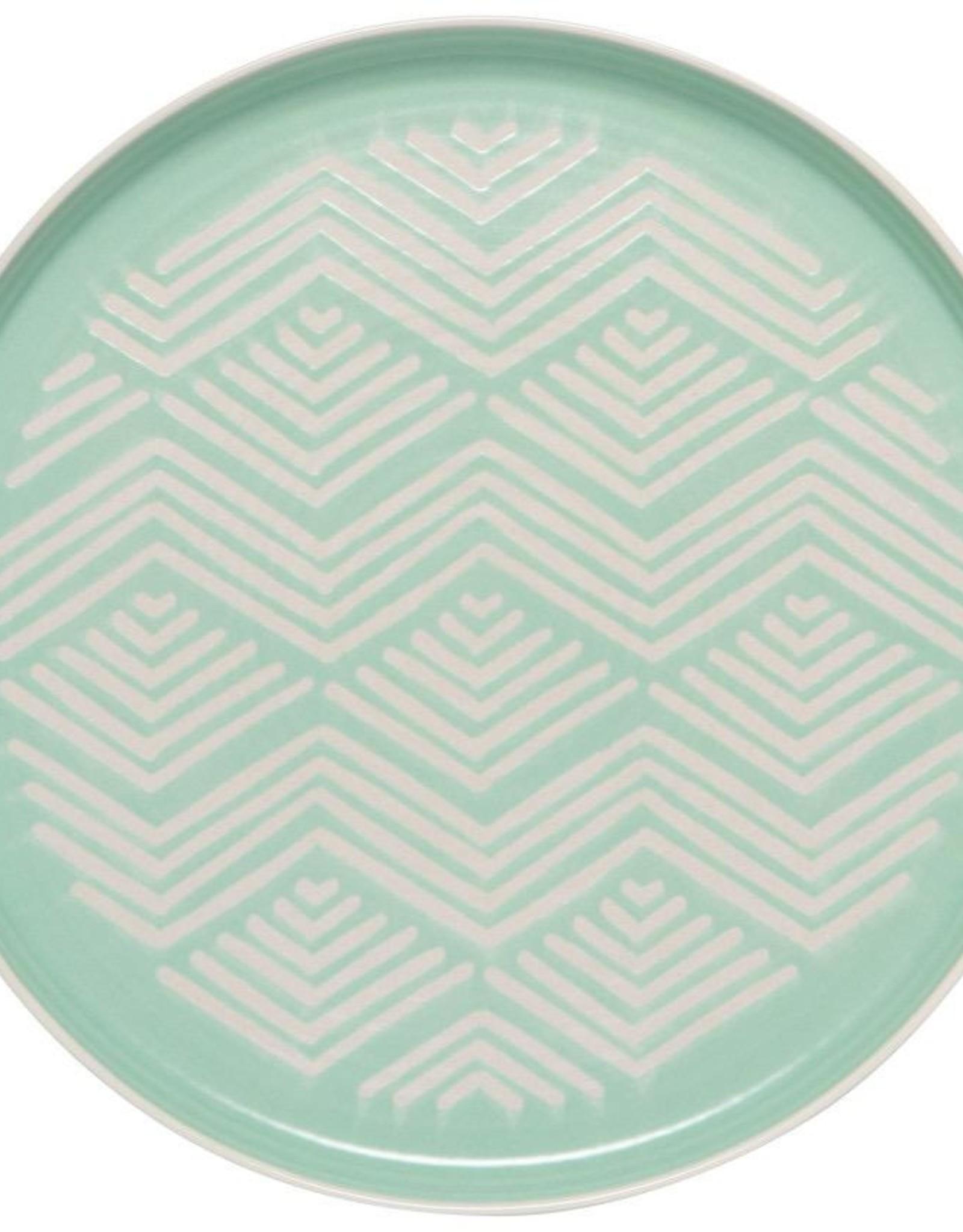 Imprint Dinner Plate - Mint